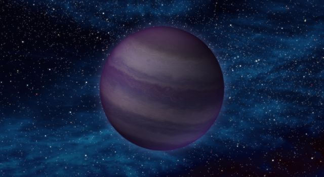 "This artist's conception illustrates what a ""Y dwarf"" might look like. Y dwarfs are the coldest star-like bodies known, with temperatures that can be even cooler than the human body."