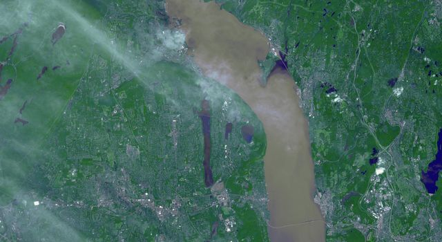 NASA Spacecraft Images Hudson River Flooding from Hurricane Irene