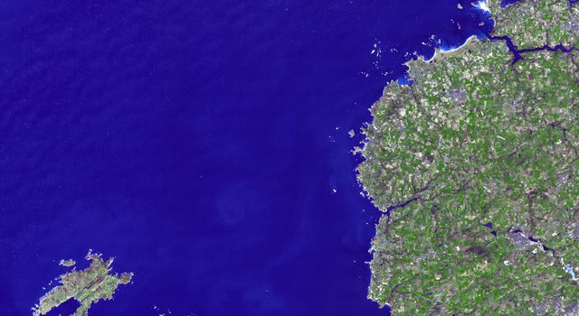 This image, acquired by NASA's Terra spacecraft, is of Brittany, a cultural region in the northwest of France.