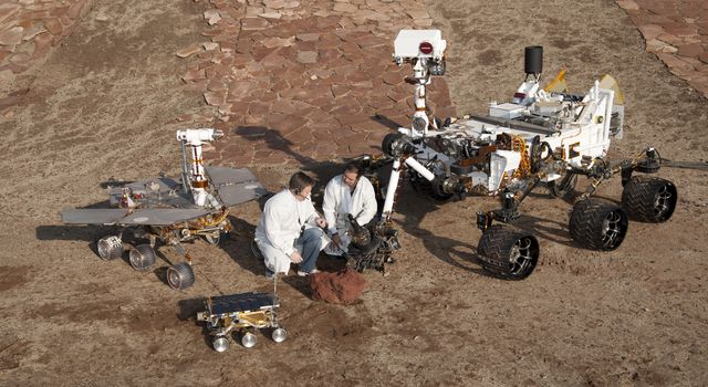 Three Generations of Rovers with Crouching Engineers
