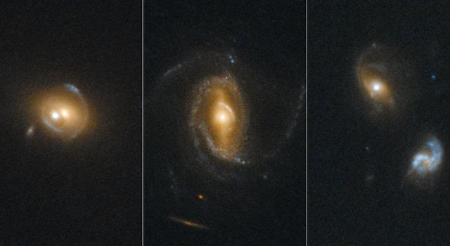 NASA's Hubble Space Telescope's sharp view was used to look for gravitational arcs and rings which are produced when one galaxy acts as a lens to magnify and distort the appearance of another galaxy behind it.