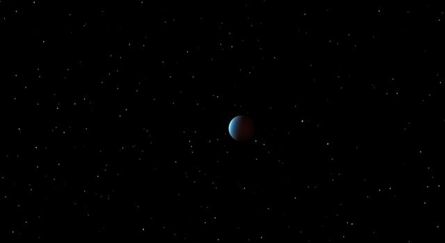 This artist's concept depicts 55 Cancri e as it orbits its star. NASA's Spitzer Space Telescope has, for the first time, captured the light emanating from a distant super Earth, a planet more massive than Earth but lighter than Neptune.