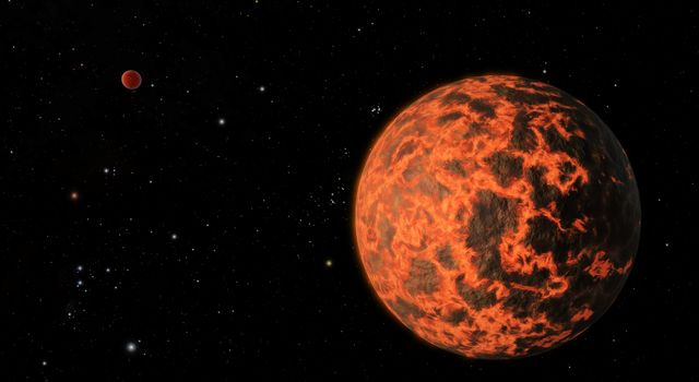 Exoplanet is Extremely Hot and Incredibly Close (Artist
