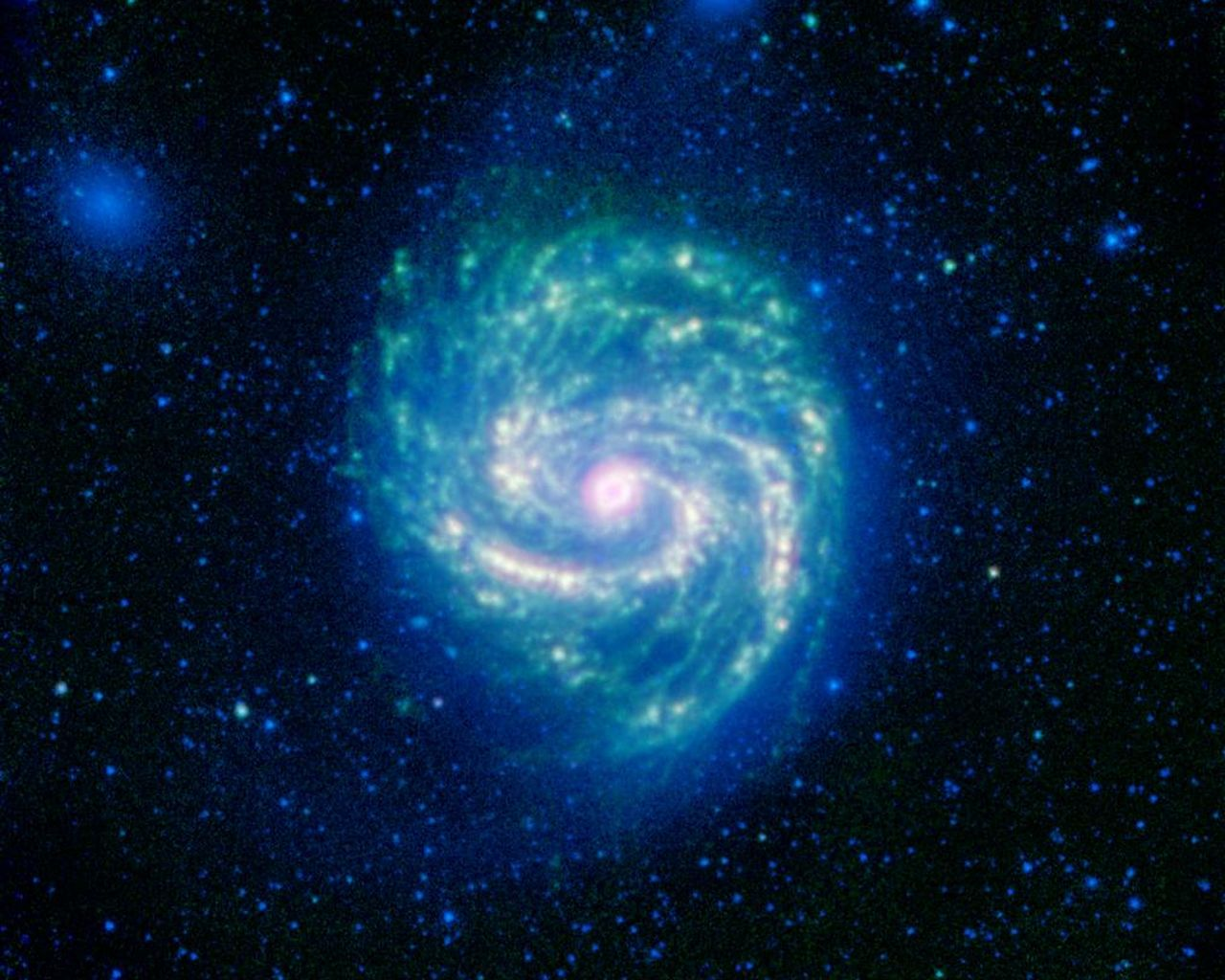 Space Images | Hot and Cold in the M100 Galaxy