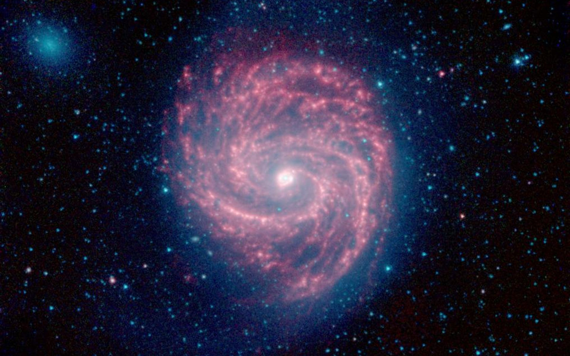 Space images the swirling arms of the m100 galaxy - Spitzer space telescope wallpaper ...