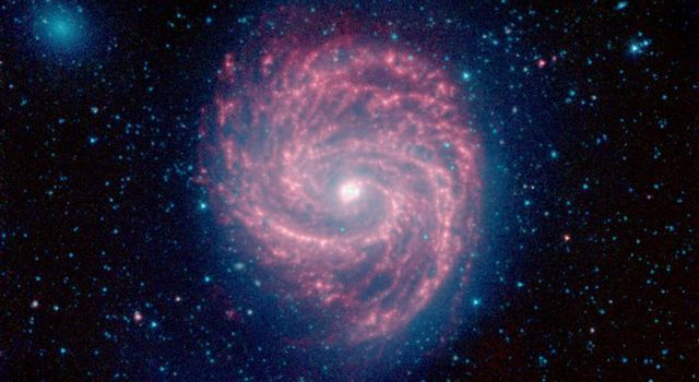 The Swirling Arms of the M100 Galaxy