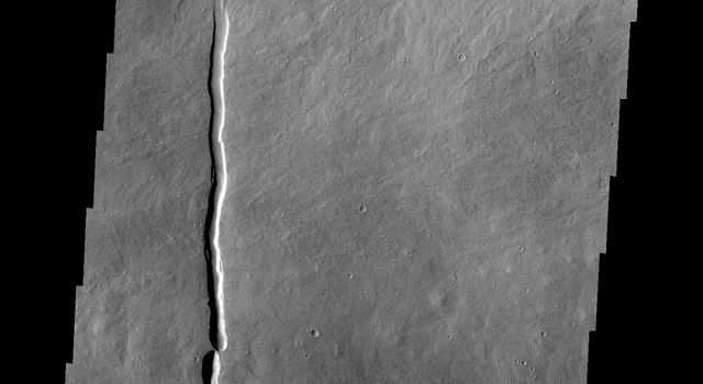 The channels in this image from NASA's Mars Odyssey spacecraftare located on the large volcanic flow complex north of Ascreaus Mons on Mars. The channels were carved by the flow of lava rather than water.