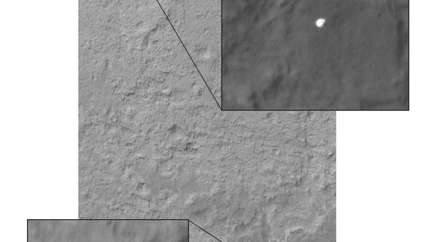 Curiosity Sails to Mars as Heat Shield Falls Away