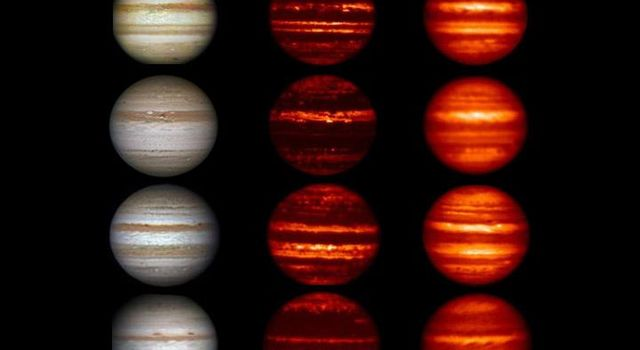 In these images obtained by amateur astronomers, Jupiter can be seen 'losing' a brown-colored belt south of the equator called the South Equatorial Belt (SEB) from 2009 to 2010.