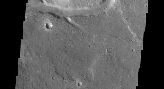 This unnamed channel is located east of Baetis Chaos as seen by NASA's 2001 Mars Odyssey spacecraft.