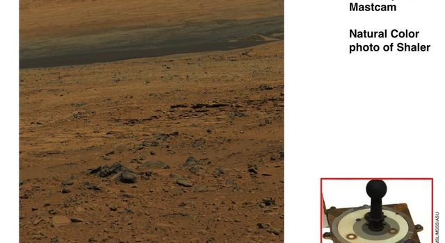 NASA's rover Curiosity uses its calibration target for the Mastcam to approximate colors we would see on Mars, using the known colors of materials on the target.