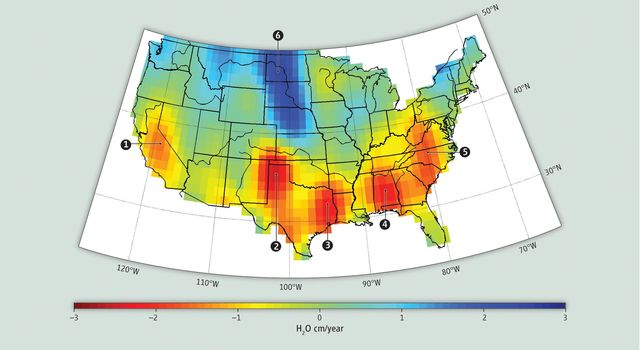 GRACE Measures Groundwater Changes Across the U.S.