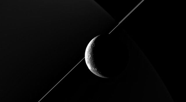 NASA's Cassini imaging scientists processed this view of Saturn's moon Dione, taken during a close flyby on June 16, 2015. This was Cassini's fourth targeted flyby of Dione.