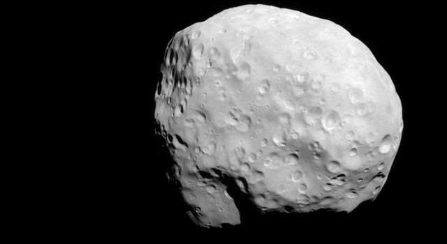 NASA's Cassini spacecraft captured this view of Saturn's moon Epimetheus (116 kilometers, or 72 miles across) during a moderately close flyby on Dec. 6, 2015. This is one of Cassini's highest resolution views of the small moon.