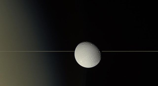 Dione on the Edge