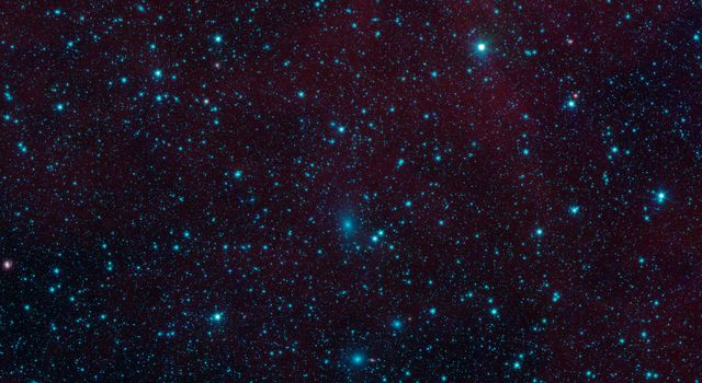 There are nearly 200 galaxies within the marked circles in this image from NASA's Spitzer Space Telescope. These are part of the Perseus-Pisces supercluster of galaxies located 250 million light-years away.