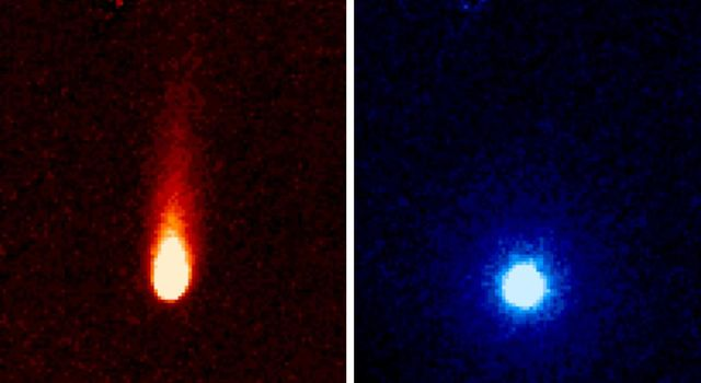 These images from NASA's Spitzer Space Telescope of C/2012 S1 (Comet ISON) were taken on June 13, when ISON was 310 million miles (about 500 million kilometers) from the sun.