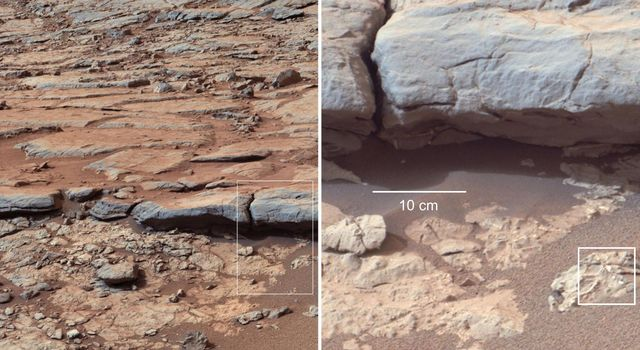 Observations at large scales, such as panoramas of Martian landscapes, help researchers identify smaller-scale features of special interest for examination in more detail.