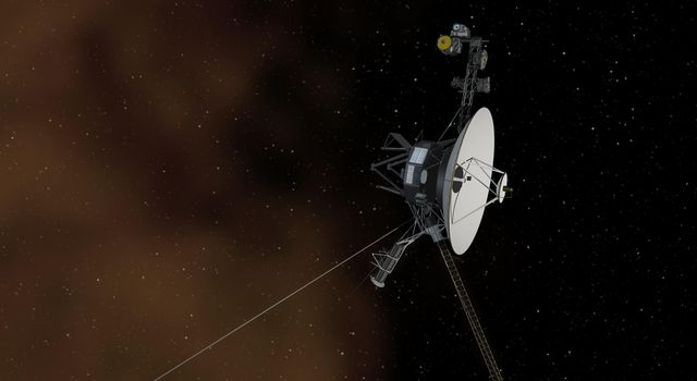 Voyager 1 Entering Interstellar Space (Artist Concept)