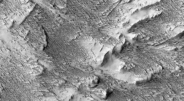 This image from NASA's Mars Reconnaissance Orbiter shows impact craters.