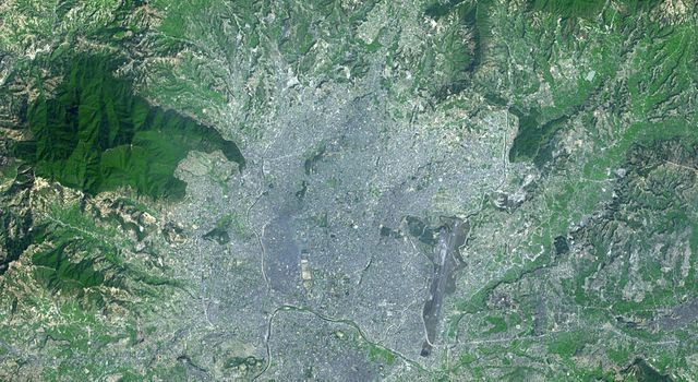 This image, acquired by NASA's Terra spacecraft, shows Kathmandu, the capital of Nepal, with a population of about 2.5 million inhabitants for the greater metropolitan area.