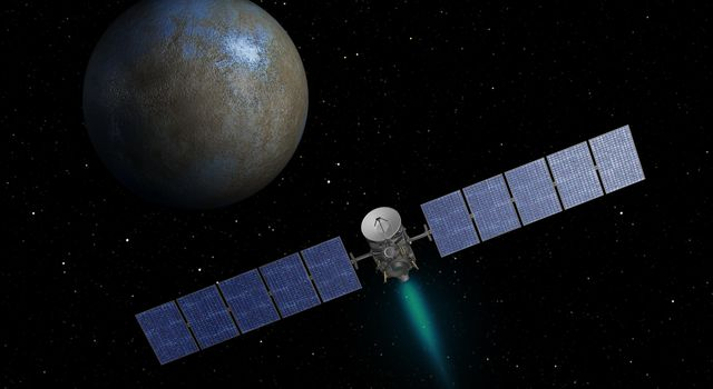 On the Way to Ceres (Artist Concept)