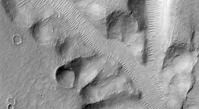 Nirgal Vallis is one of the largest and longest valley networks on Mars as seen by NASA's Mars Reconnaissance Orbiter.