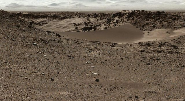 This image from NASA's Curiosity Mars rover, Curiosity, has been white-balanced to show what the rocks would look like if they were on Earth.
