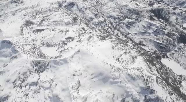 NASA's Airborne Snow Observatory is two instruments combined that provides information on every patch of snow, including how deep it is and how fast it's melting. This is a frame from an animation.