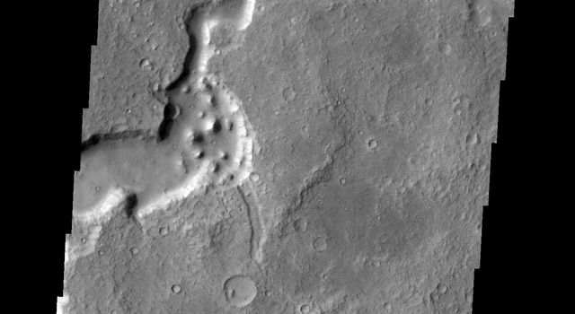 The channel in this image is called Havel Vallis, as seen by NASA's 2001 Mars Odyssey spacecraft.