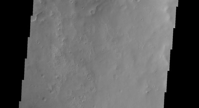 Dunes are found on the floor of this unnamed crater located on the margin between Arabia Terra and Terra Sabaea in this image from NASA's 2001 Mars Odyssey spacecraft.