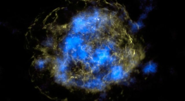 NASA's NuSTAR has, for the first time, imaged the radioactive 'guts' of a supernova remnant, the leftover remains of a star that exploded. The NuSTAR data are blue, and show high-energy X-rays.