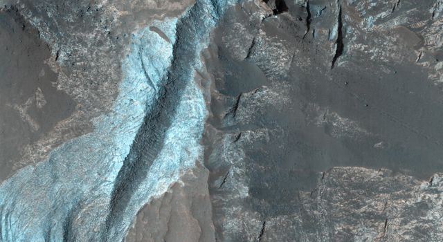 Terby Crater, sitting on the northern rim of Hellas Basin, has been filled by sedimentary deposits, perhaps deposited by or in water, as observed by NASA's Mars Reconnaissance Orbiter.