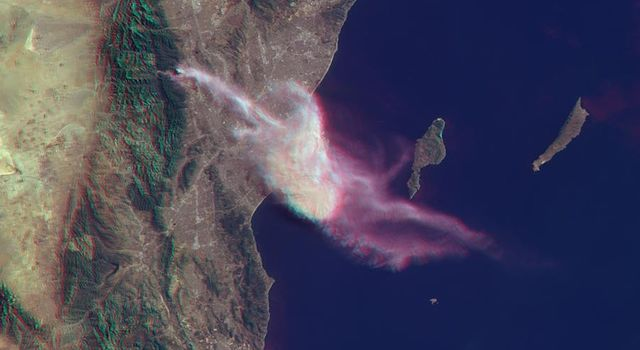 NASA Spacecraft Sees Dispersion of Smoke and Ash Across LA Basin from Colby Fire