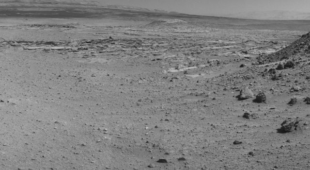 "This view from NASA's Curiosity Mars rover was taken the day before the rover's final approach drive to ""the Kimberley"" waypoint, selected months ago as the location for the mission's next major investigations."