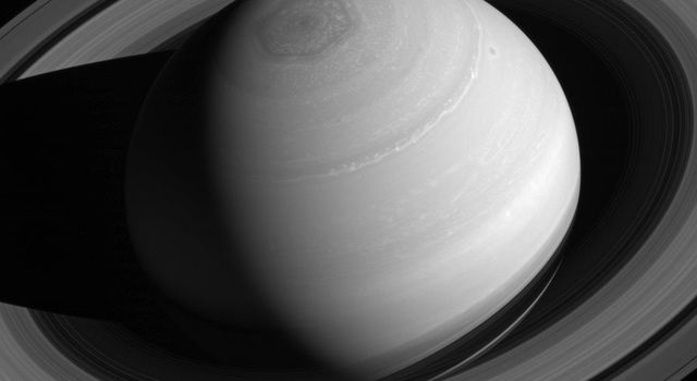 Although all four giant planets have ring systems, Saturn's is by far the most massive and impressive, as seen by NASA's Cassini spacecraft.