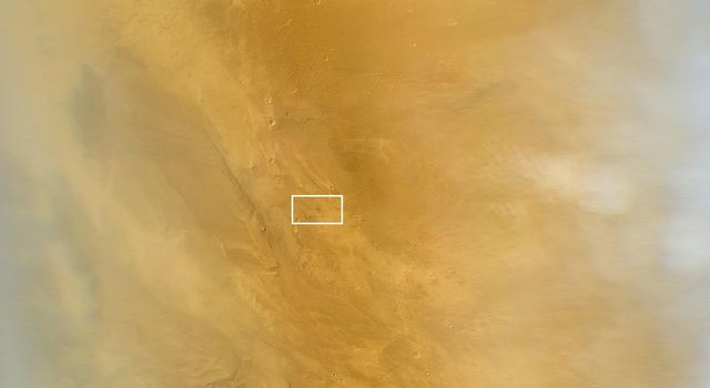 Impact Scar Detected in Mars Weathercam Image
