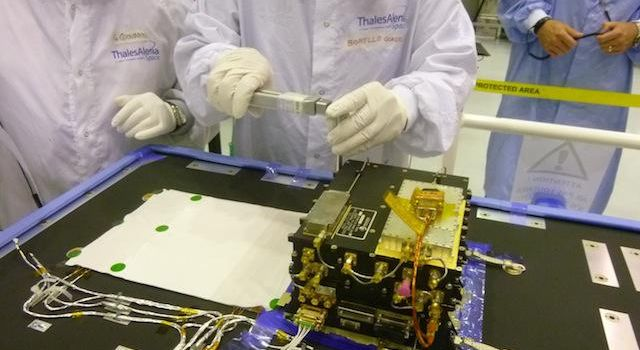 The European Space Agency's ExoMars Trace Gas Orbiter, being assembled in France for a 2016 launch opportunity, will carry two Electra UHF relay radios provided by NASA.