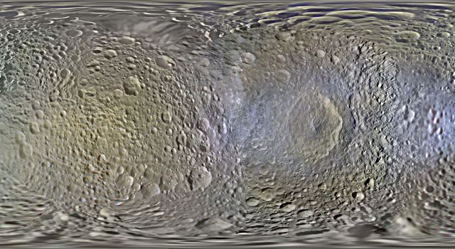 Color Maps of Mimas - 2014