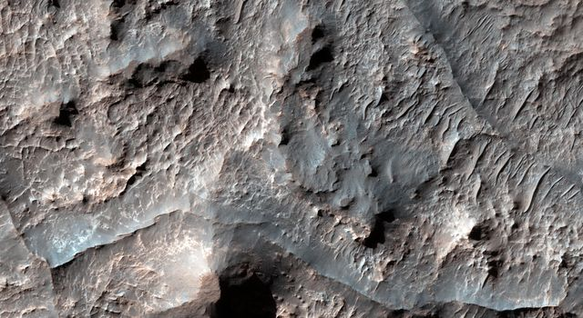 Eridania Basin, located at the head of Ma'adim Vallis, has mounting geomorphic and spectral evidence that it may have been the site of an ancient inland sea. This image is from NASA's Mars Reconnaissance Orbiter.