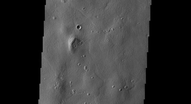 The channel-like features at the bottom of this image captured by NASA's 2001 Mars Odyssey spacecraft are part of Galaxias Fossae.