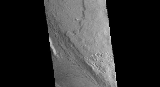 This image captured by NASA's 2001 Mars Odyssey spacecraft shows a portion of Ares Vallis.
