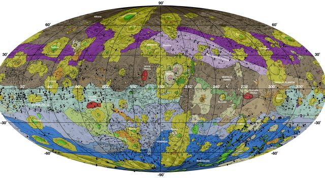Geological Map of Vesta