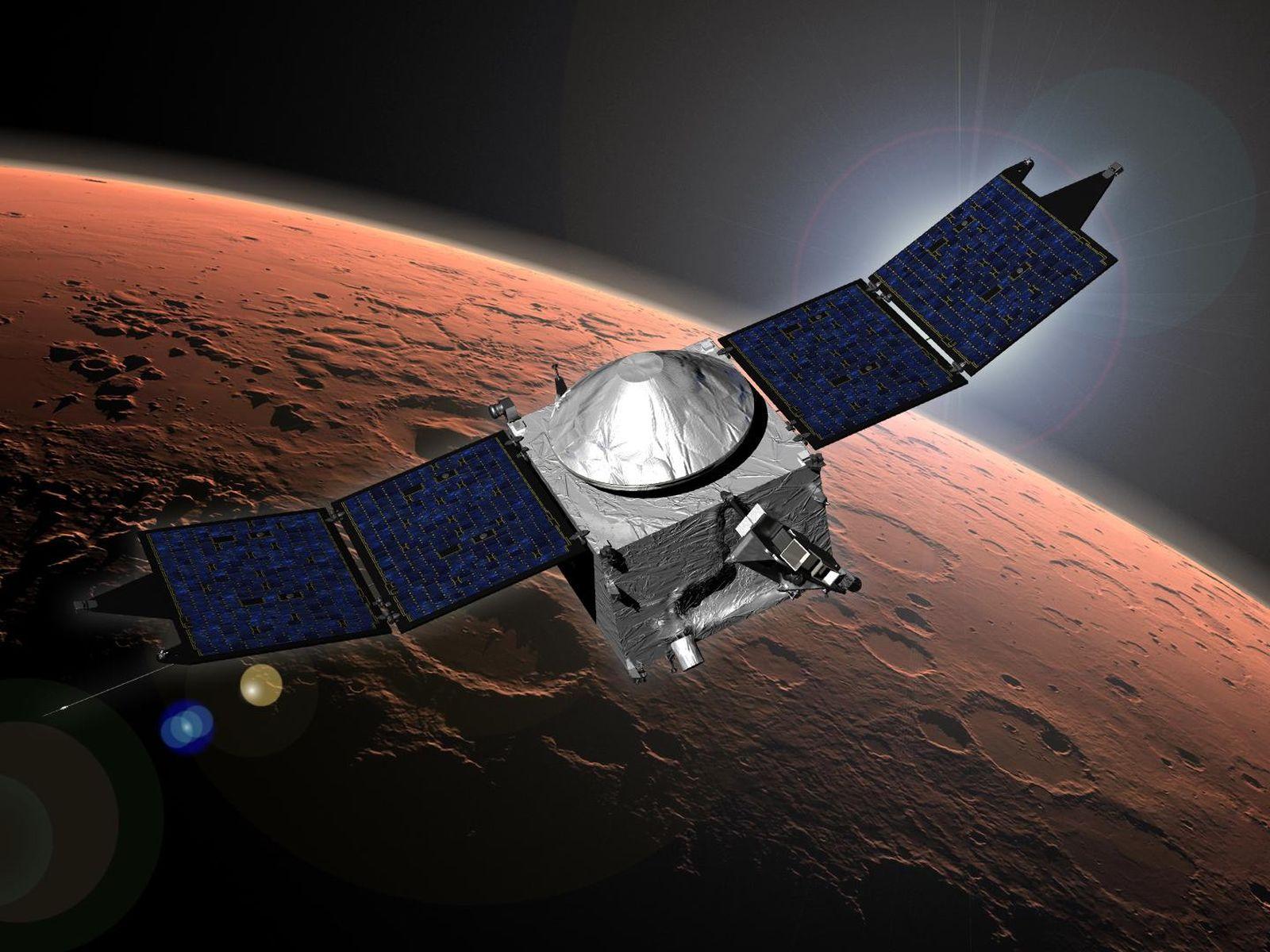 Успешно прошло погружение в марсианскую атмосферу  зонда MAVEN