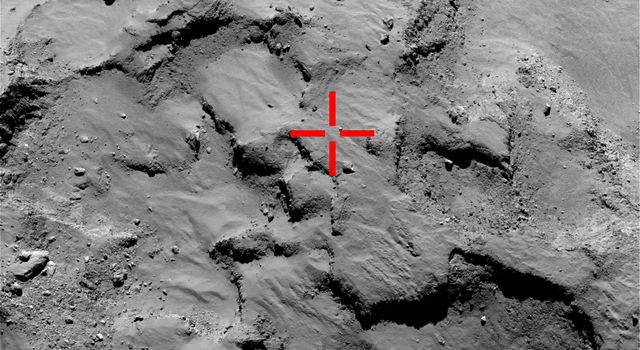 First Touchdown Site of Comet Lander