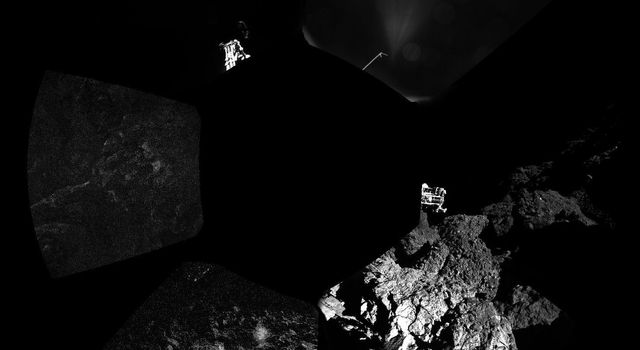 First Panoramic View from Comet Lander