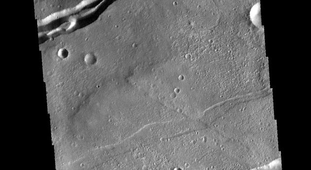 The linear features in this image from NASA's 2001 Mars Odyssey spacecraft are graben (fault bounded depressions). The graben are part of Sirenum Fossae.