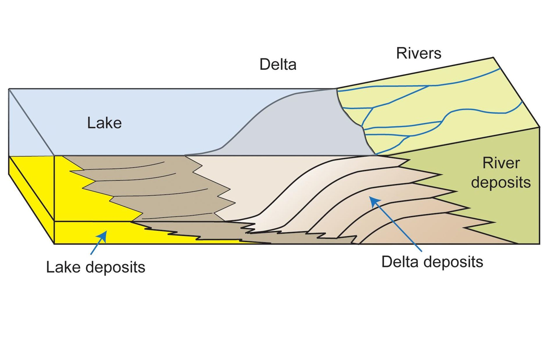 Space Images How A Delta Forms Where River Meets Lake