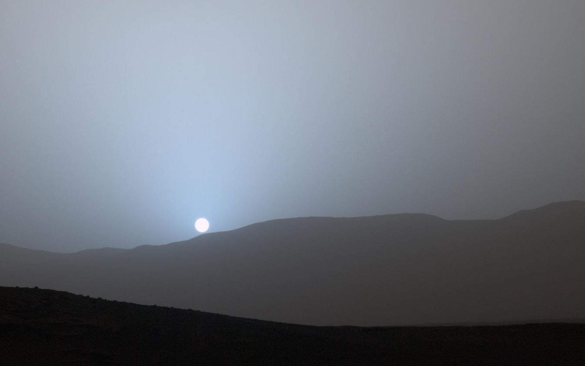 Space images sunset in mars 39 gale crater - Mars sunset wallpaper ...