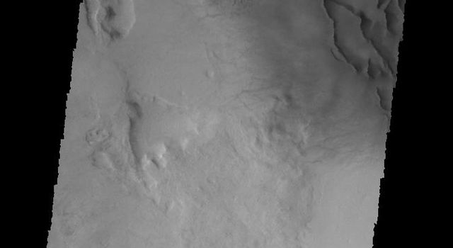 This image captured by NASA's 2001 Mars Odyssey spacecraft shows dunes on the floor of an unnamed crater in Noachis Terra.